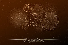 Firework show on night sky background. Independence day concept. Congratulations background. Vector illustration Stock Image