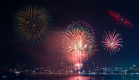 Firework Show at Pattaya Stock Photography