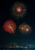 Firework Show at Pattaya Royalty Free Stock Image