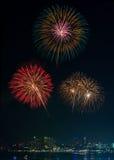 Firework Show at Pattaya Royalty Free Stock Image
