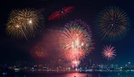 Firework Show at Pattaya Stock Photos