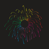 Firework. Simplified illustration of a colorful firework display Royalty Free Stock Photos