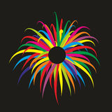 Firework. Simplified illustration of a colorful firework display Stock Images