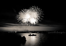 Firework in sky Stock Photography