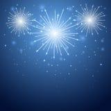 Firework in the sky. Shiny firework in the blue sky, illustration vector illustration