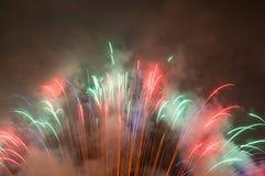 Firework with smoke stock image