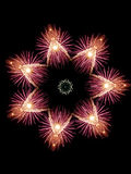 Firework Snowflake. Representation of a snowflake made out of a snowflake Royalty Free Stock Photography