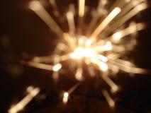 Firework Sparkler. Blured fireworks sparkler in dark Royalty Free Stock Photos