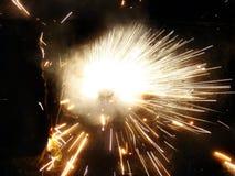 Firework Spiral Stock Image