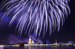 Firework in St.Petersburg Royalty Free Stock Photography
