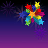 Firework with stars. Cute,eps10 Royalty Free Stock Photography