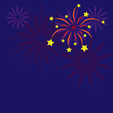 Firework with stars. New year background,eps10 Royalty Free Stock Photography