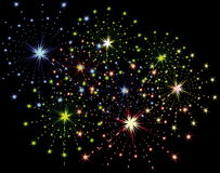 Firework streaks Stock Image