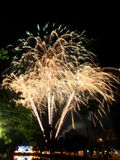 Firework of the Thai father's day Royalty Free Stock Images