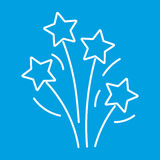 Firework thin line icon. For web and mobile devices Royalty Free Stock Photo