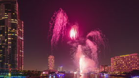 Firework timelapse stock footage