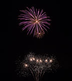 Firework trails in the sky Royalty Free Stock Images