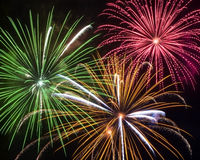 Firework Trio Royalty Free Stock Images