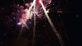 Firework. Twistringen in Night..was ware nice Stock Photo