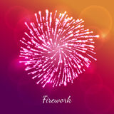 Firework vector concept. Festive color firework vector concept. Stylish gradient background with light hotspots. Perfect for holiday illustrations Royalty Free Stock Photos