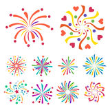 Firework vector icon  illustration celebration holiday event night new year fire festival explosion light. Festive party fun birthday bright Stock Image