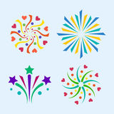 Firework vector icon  illustration celebration holiday event night new year fire festival explosion light. Festive party fun birthday bright Stock Photo