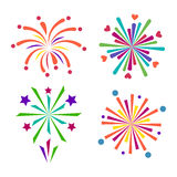 Firework vector icon isolated illustration celebration holiday event night new year fire festival explosion light. Festive party fun birthday bright Stock Images