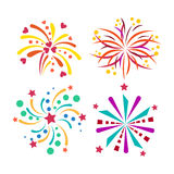 Firework vector icon isolated illustration celebration holiday event night new year fire festival explosion light. Festive party fun birthday bright Royalty Free Stock Image
