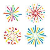 Firework vector icon isolated illustration celebration holiday event night new year fire festival explosion light. Festive party fun birthday bright Stock Photography