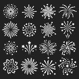 Firework vector icon isolated illustration celebration holiday event night new year fire festival explosion light. Festive party fun birthday bright Stock Photo