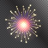 Firework vector illustration celebration holiday event night explosion light festive party. Firework vector icon isolated illustration celebration holiday event Stock Photo