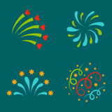 Firework vector illustration celebration holiday event night explosion light festive party. Firework vector icon isolated illustration celebration holiday event Royalty Free Stock Photos