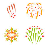 Firework vector illustration celebration holiday event night explosion light festive party. Firework vector icon isolated illustration celebration holiday event Stock Image