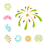 Firework vector illustration celebration holiday event night explosion light festive party Stock Photo