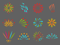Firework vector illustration celebration holiday event night explosion light festive party. Firework vector icon isolated illustration celebration holiday event Royalty Free Stock Image