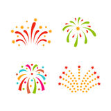 Firework vector illustration celebration holiday event night explosion light festive party. Firework vector icon isolated illustration celebration holiday event Stock Photography