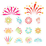Firework vector illustration celebration holiday event night explosion light festive party. Firework vector icon isolated illustration celebration holiday event Royalty Free Stock Images