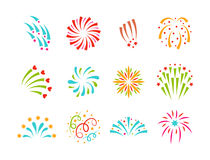 Firework vector illustration celebration holiday event night explosion light festive party. Firework vector icon  illustration celebration holiday event night Royalty Free Stock Image