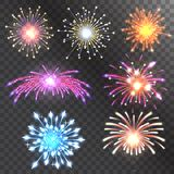 Firework vector illustration holiday event explosion light festive party. Firework vector icon isolated illustration celebration holiday event night fire Stock Images