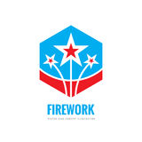 Firework - vector logo template concept illustration. Abstract stars creative sign. Design graphic element.  Stock Photo