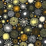 Firework vector seamless pattern. Holiday star. Firework seamless pattern. Holiday star vector background Royalty Free Stock Images