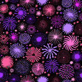 Firework vector seamless pattern. Holiday star. Firework seamless pattern. Holiday star vector background Stock Photography