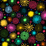 Firework vector seamless pattern. Holiday star. Firework seamless pattern. Holiday star vector background Royalty Free Stock Photography