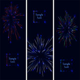 Firework. Webside header or banner set.  illustration Royalty Free Stock Images