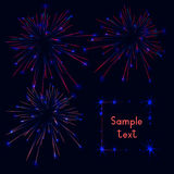 Firework. Webside header or banner set.  illustration. Website header or banner set. background.  illustration Stock Image