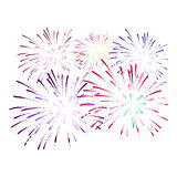Firework on white background. Vector illustration. Colorful firework on white background. Vector illustration Stock Images