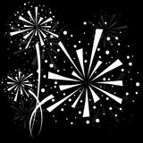 Firework white Royalty Free Stock Photo