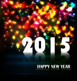 Firework and year 2015 made of colored neon effect. Year 2015 made of colored neon effect Stock Photos