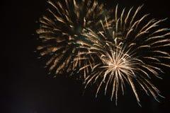 Fireworkds 2015 del nuovo anno Fotografie Stock Libere da Diritti