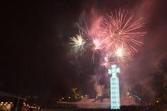 Fireworkds 2015 do ano novo Imagem de Stock Royalty Free